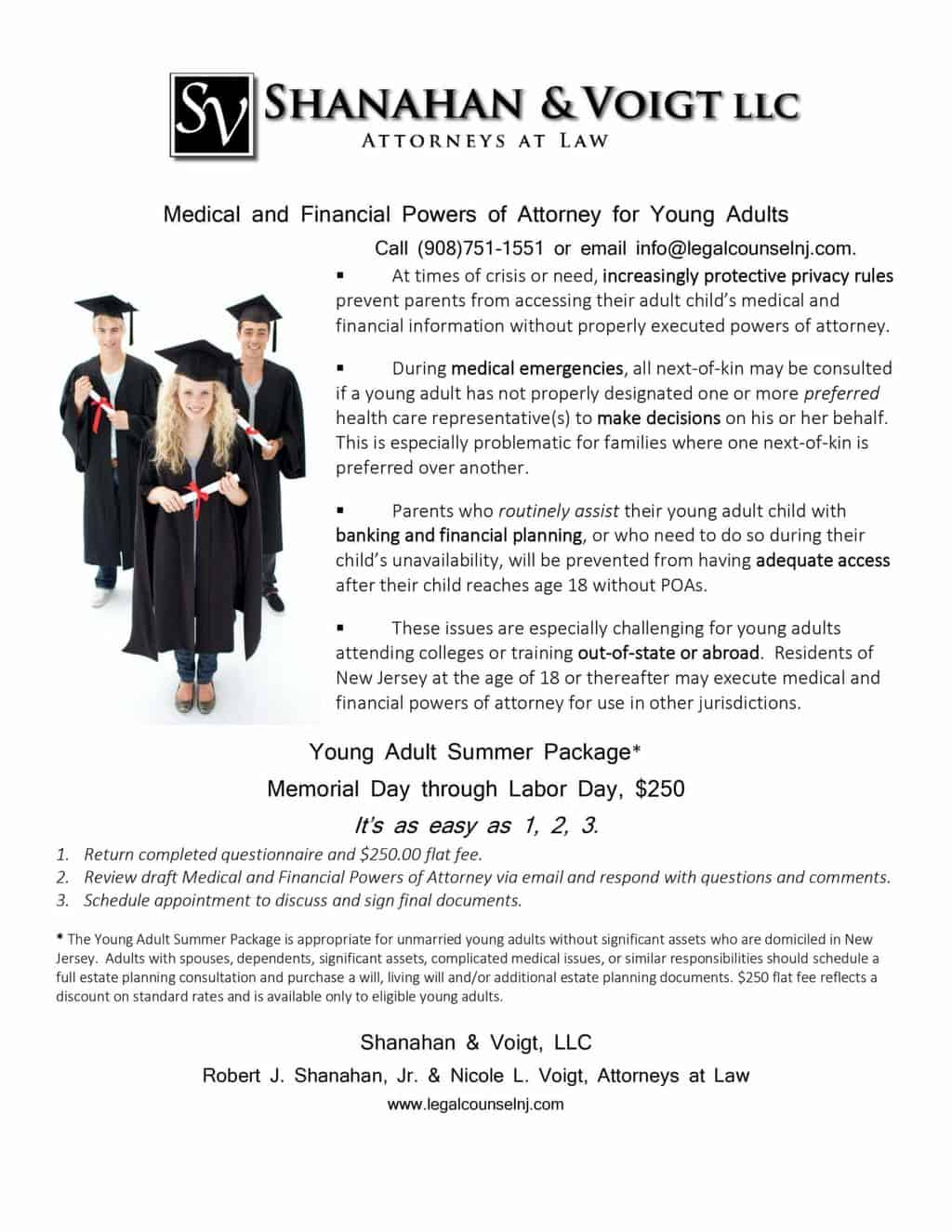 Medical and Financial Powers of Attorney for Young Adults